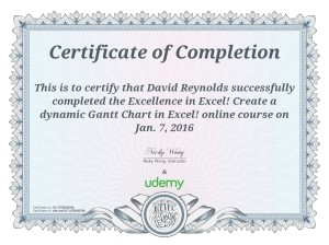 Pivot Table Certificate